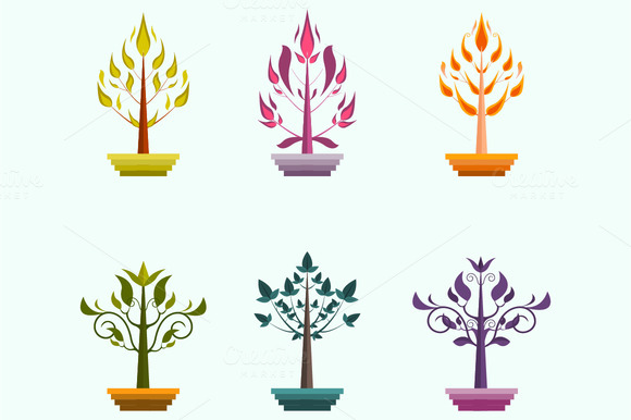 Creative Vector Trees Design