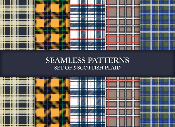 Scottish Plaids Illustrator Patterns