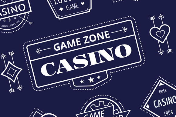 Casino Vector Logo Icons Set