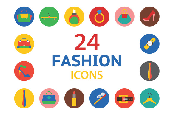 Fashion Vector Logo Icons Set