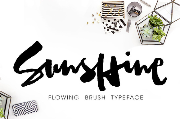 Sunshine Brush Font WithAlternatives