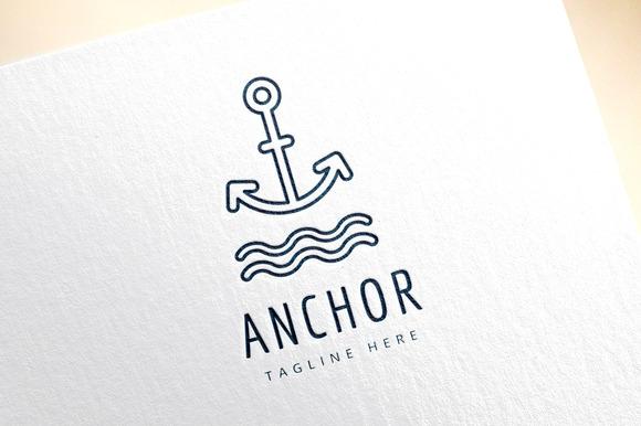 Anchor Vector Sea Logo Icon