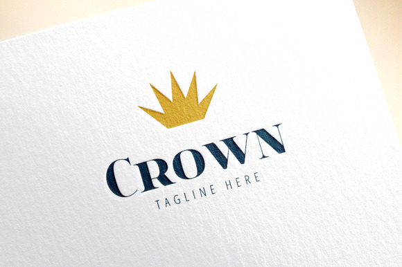 Crown Shape Vector Logo Icon King