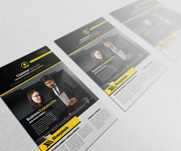 Evolution Flyer Template IV