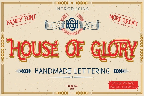 House Of Glory FamilyFont