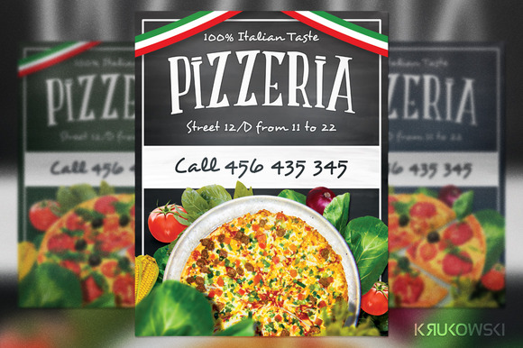 Pizzeria Restaurant Flyer