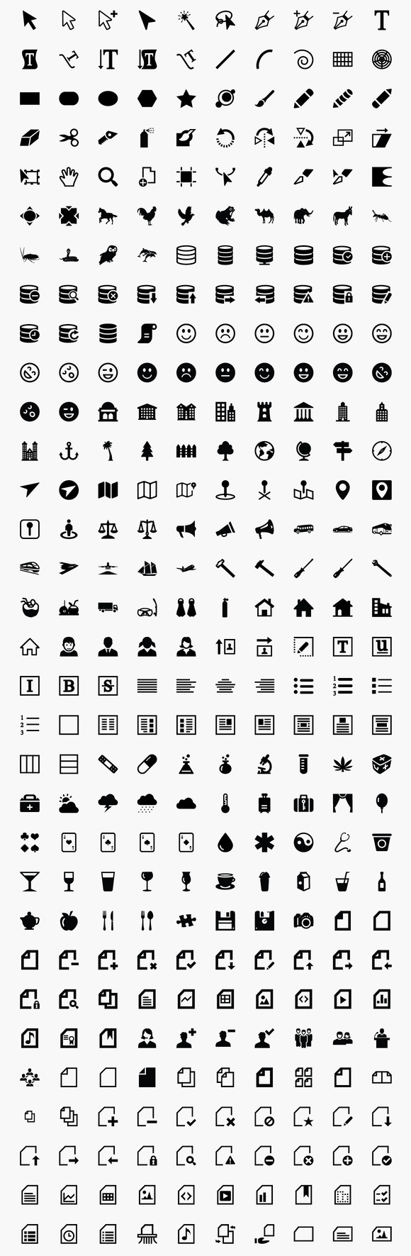1 720 Icons From MultiSizeIcon Set
