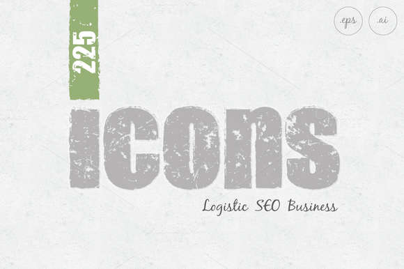 Business SEO Logistic Icons