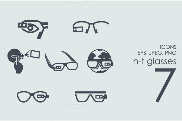 7 High-tech Glasses Icons