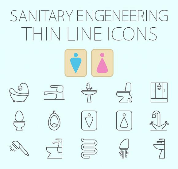 Sanitary Engineering Vector Icon