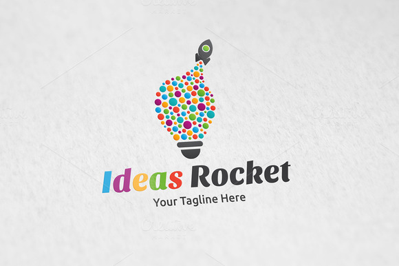 Ideas Rocket Logo Template