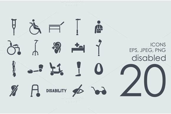 20 Disabled Icons