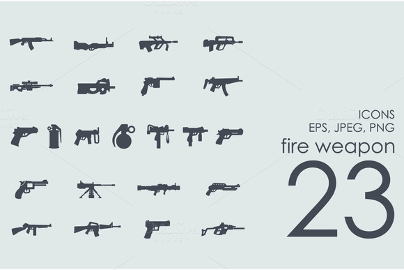 23 Fire Weapon Icons