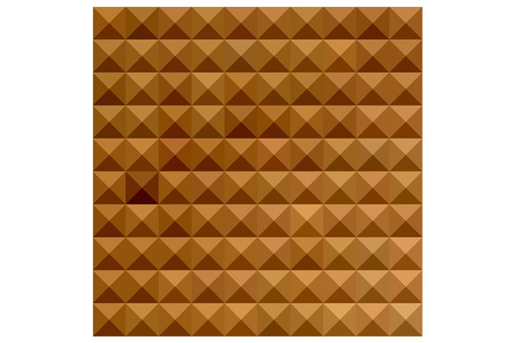 Bronze Brown Abstract Low Polygon Ba