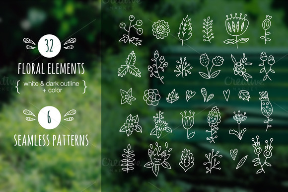 32 Floral Elements Patterns