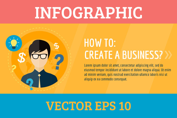 Startup Business Create Infographic