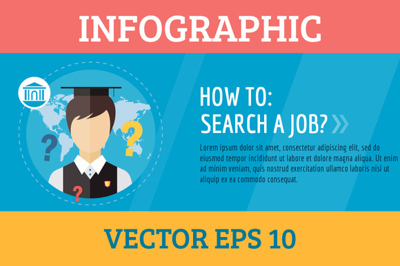 Job Search Infographic Vector