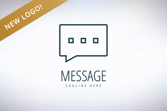 Vector Message Forum Chat And Logo