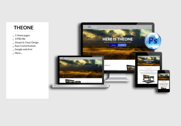 OnePage Psd Teamplate