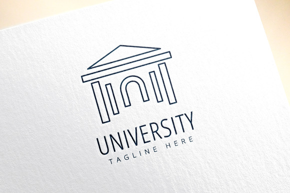 University Vector Logo Icon Educate