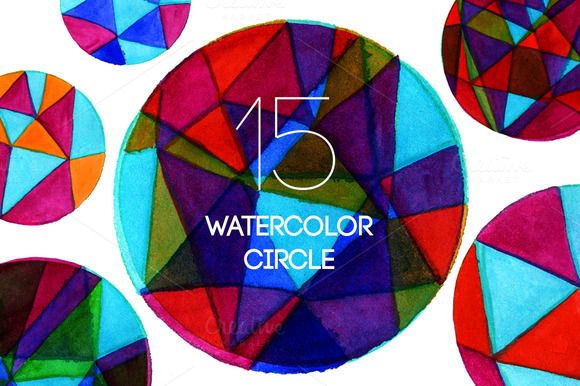 15 Watercolor Circle Of Triangles