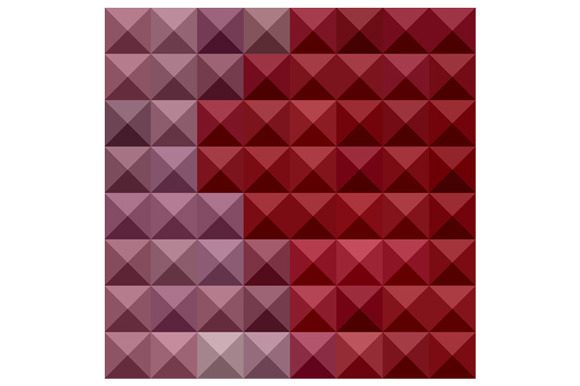 Falu Red Abstract Low Polygon Backgr