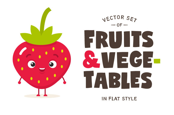 Fruits Vegetables Vector Set