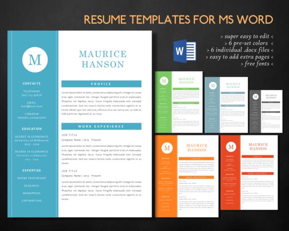 Simple Elegant 3 In 1 Word Resume