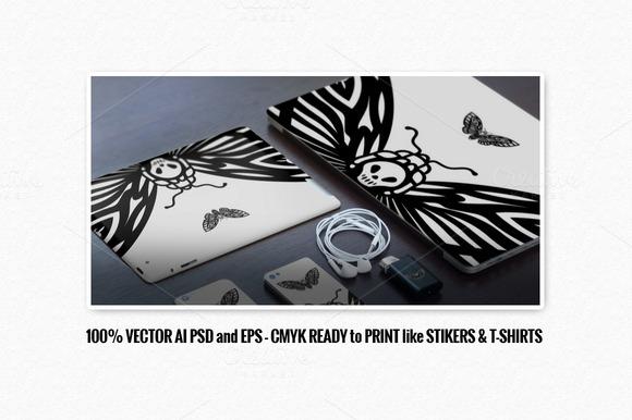 Moth Vector Illustration Sticker