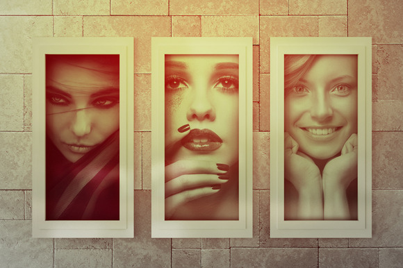 Realistic Photo Frame Mock-Ups