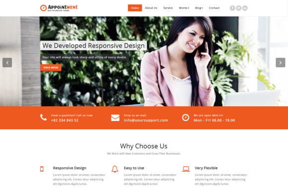 Appointment WordPress Theme