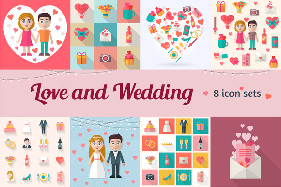 Love And Wedding Icons Collection
