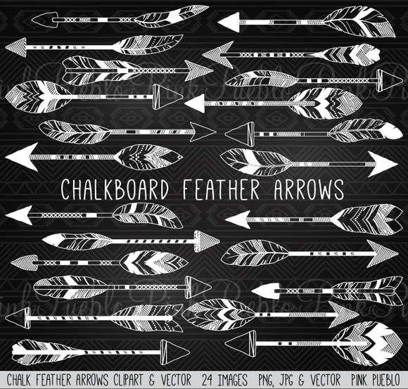 Chalkboard Feather