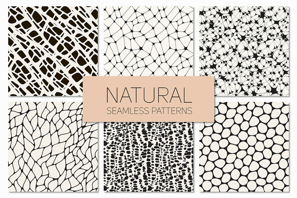 Natural Seamless Patterns Set