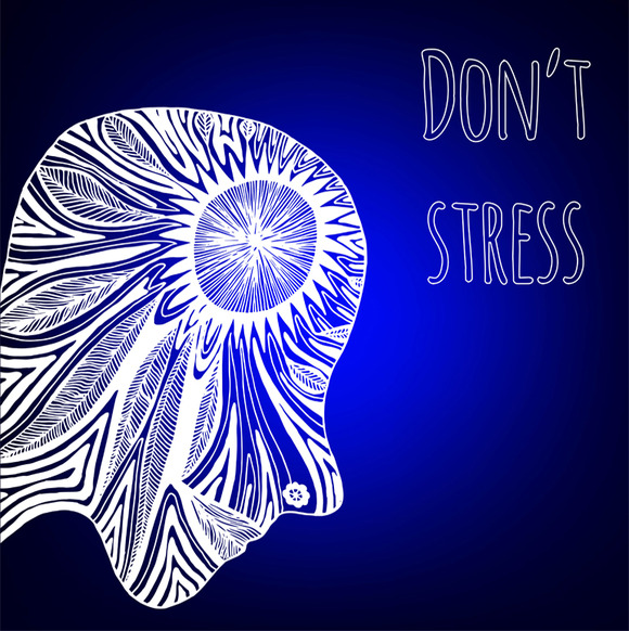 Don T Stress Decorative Card