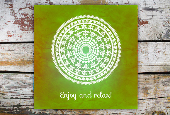 Enjoy And Relax Decorative Card