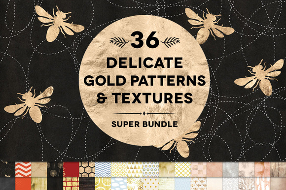 36 Delicate Gold Patterns Textures