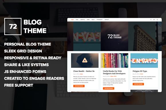 72 Personal Blog Theme