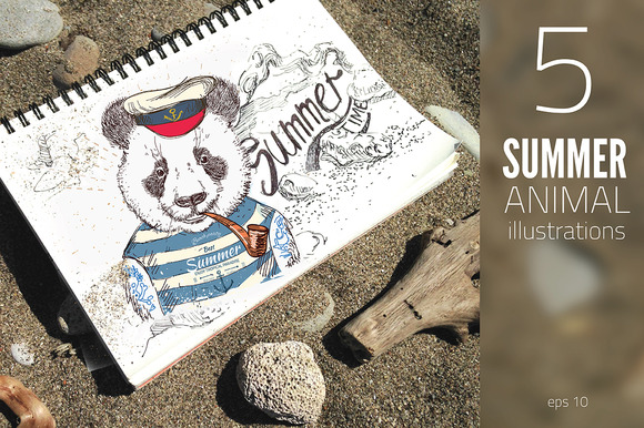 Pirate Summer Animals