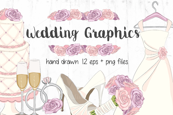 Hand Drawn Vector Clipart Wedding