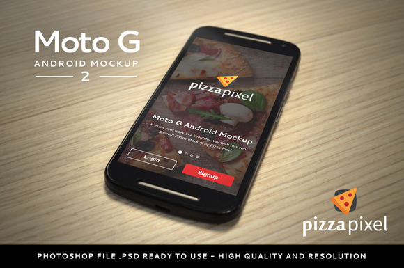 Moto G Android Easy Mockup 2