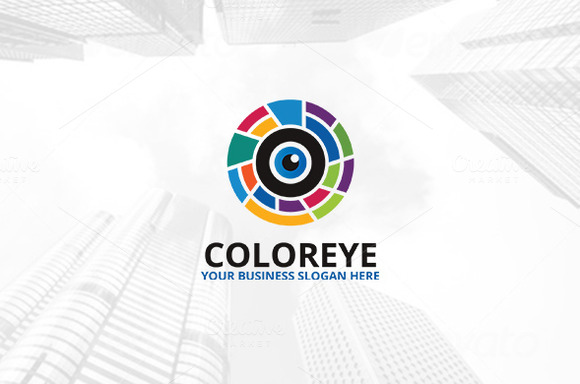 Color Eye Logo Template