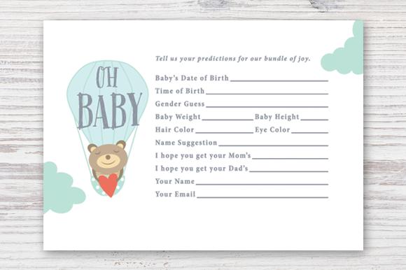 Printable Baby Prediction Card