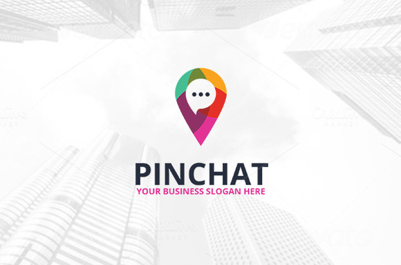 Pin Chat Logo Template