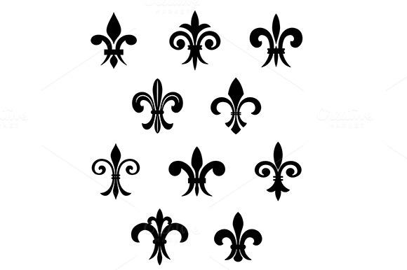Fleur-de-lis French Lilies Symbols