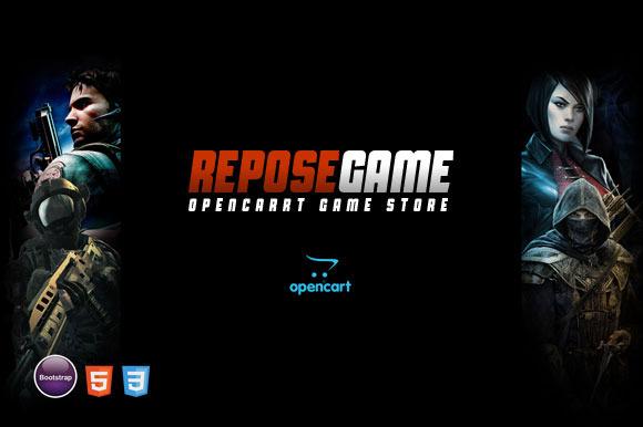 Repose Game OpenCart Theme