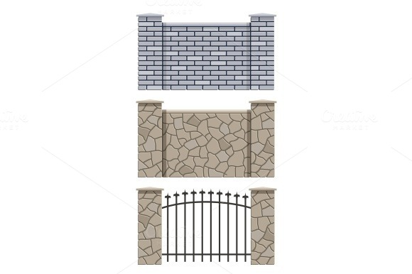 Brick And Stone Fence