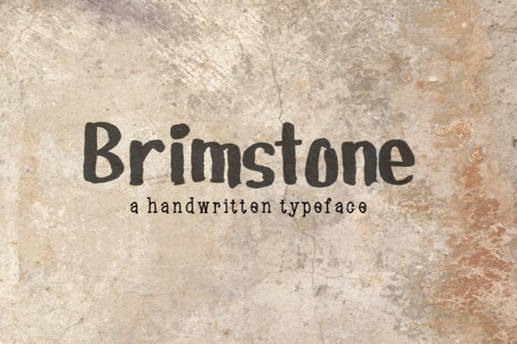 Brimstone- Handwritten Font