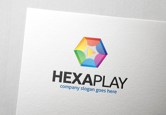 Hexa Play Logo Template