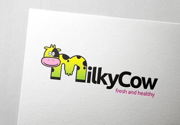 Milky Cow Logo Template